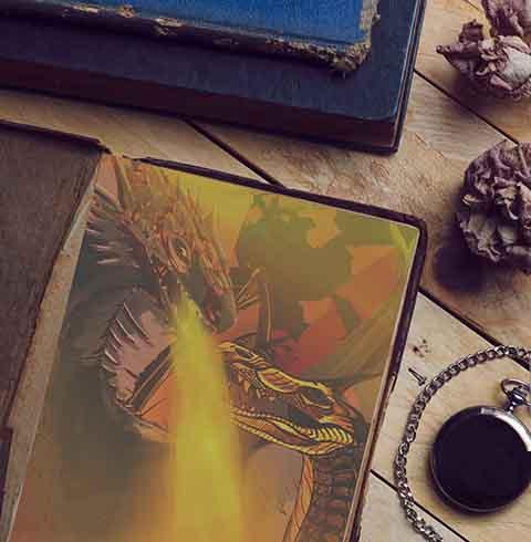 Dragon illustration digital art