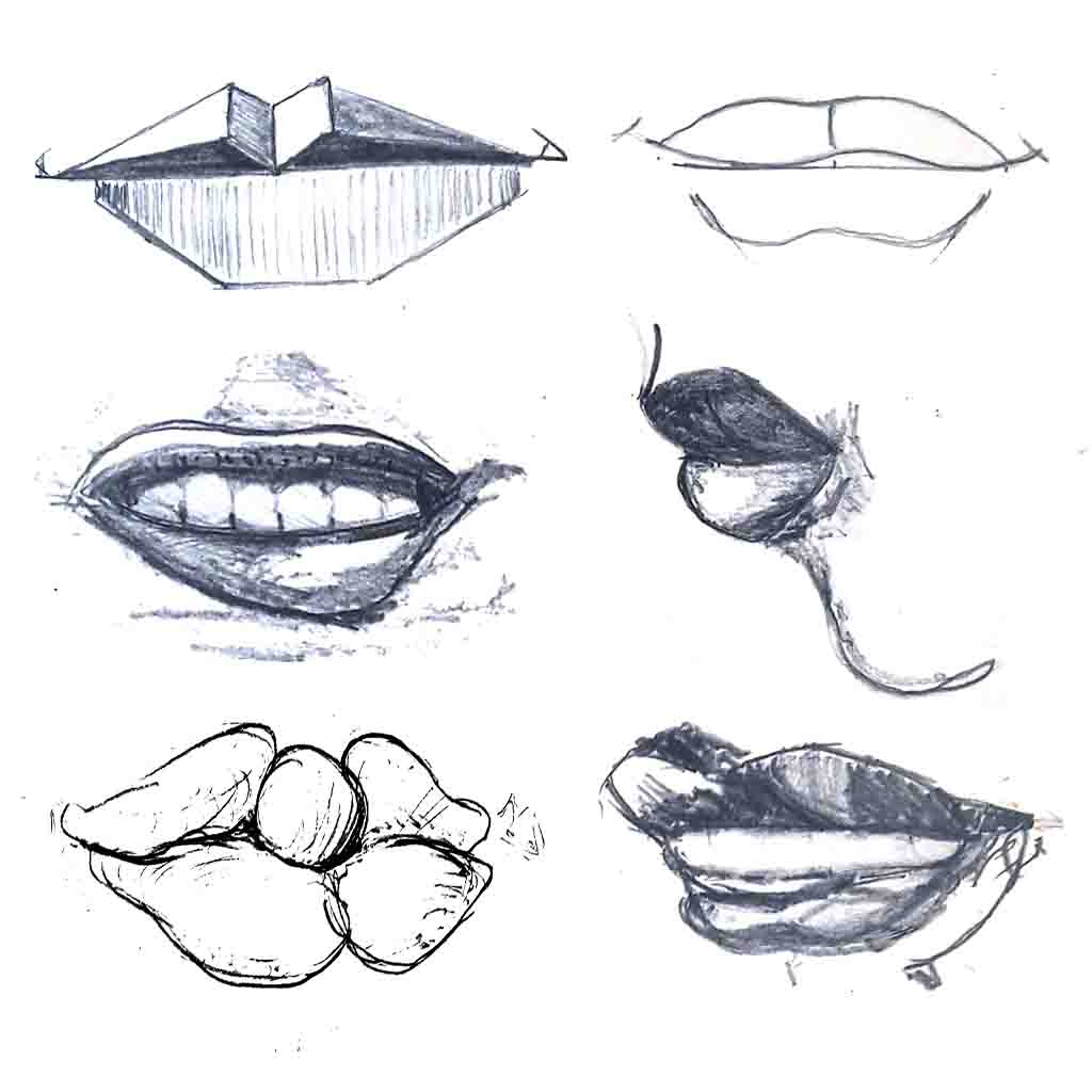 Drawing the mouth & lips David Lagesse