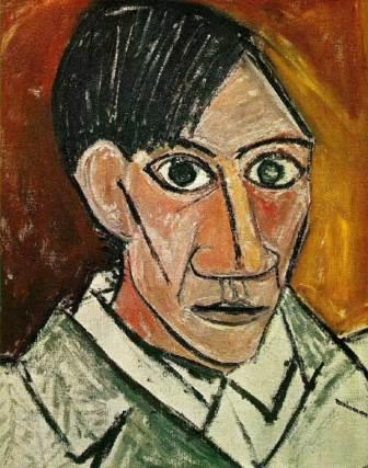 Spanish Cubist Pablo Picasso Self portrait