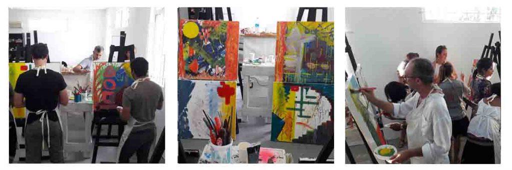 Team building painting workshop