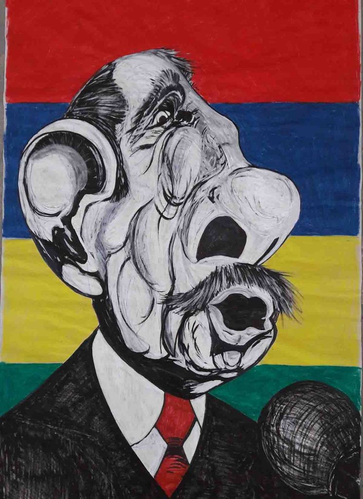 Imagination-drawing-caricature-politician