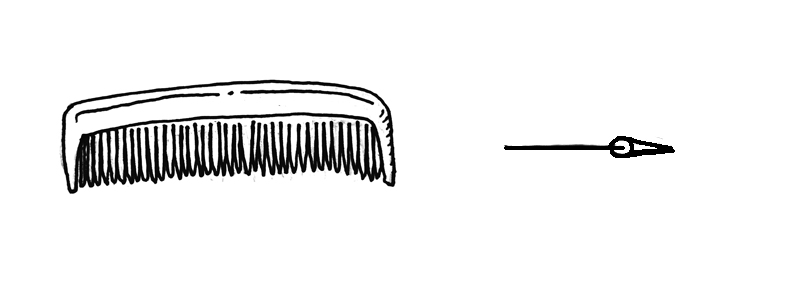 How to draw a comb David Lagesse