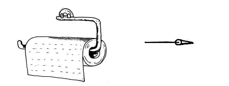 How to draw a kitchen paper towel holder David Lagesse