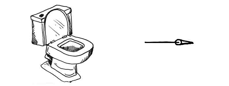 How to draw a toilet at home David Lagesse