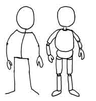 Stick figure  and mannequin drawing