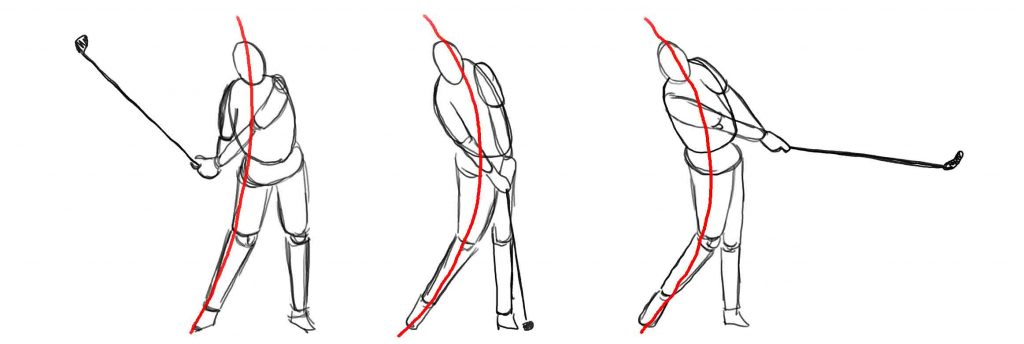 Gesture line for drawing fundamentals