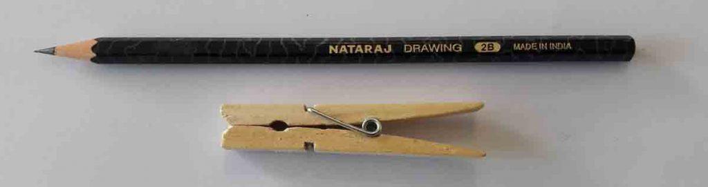 2B Pencil & clothes peg