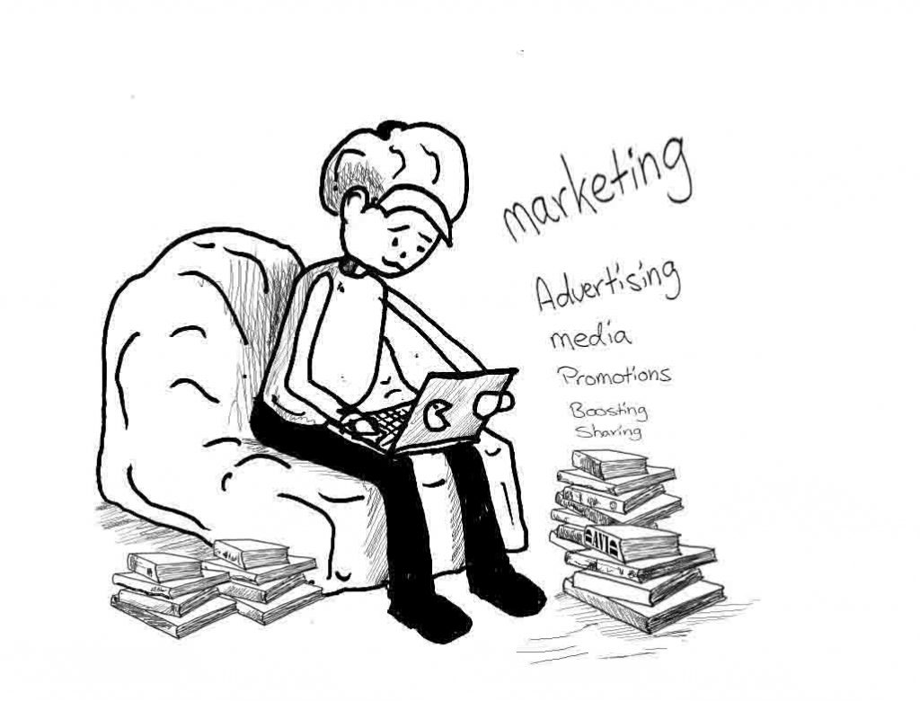Cartoon for Marketing artists