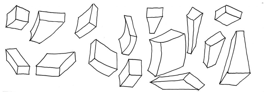 blocks of shapes in perspective